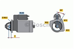 Reservdel:Volvo V40 Startmotor
