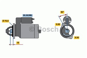 Reservdel:Mercedes A 180 Startmotor
