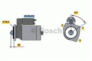 Reservdel:Volkswagen Transport Startmotor