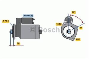 Reservdel:Volkswagen Touareg Startmotor