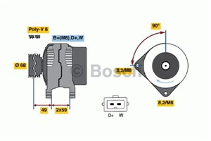 Reservdel:Volkswagen Lt 28-46 Generator
