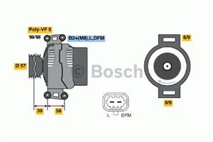 Reservdel:Saab 9-3 Generator
