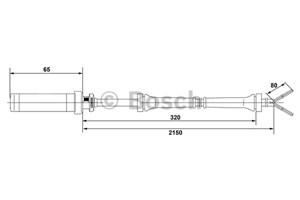 Reservdel:Mercedes Sprinter ABS-givare, Sensor, hjulvarvtal, Framaxel