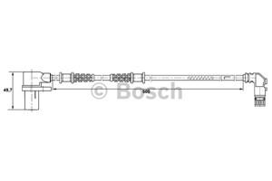 Reservdel:Mercedes C 180 ABS-givare, Sensor, hjulvarvtal, Fram, Framaxel, Höger