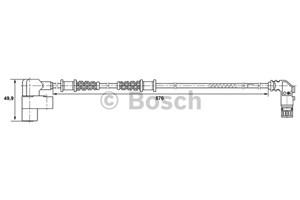 Reservdel:Mercedes A 170 ABS-givare, Sensor, hjulvarvtal, Fram, Vänster