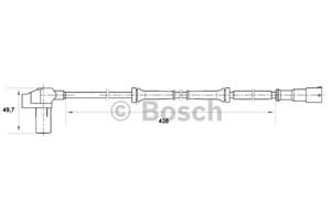 ABS-givare, Sensor, hjulvarvtal, Bakaxel, Fram, Framaxel, Höger