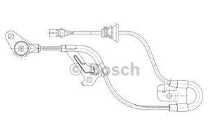 ABS Sensor, Foraksel, Foran, Venstre