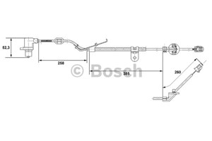 ABS-givare, Sensor, hjulvarvtal, Fram, Framaxel, Vänster