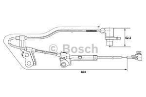 ABS-givare, Sensor, hjulvarvtal, Framaxel, Vänster