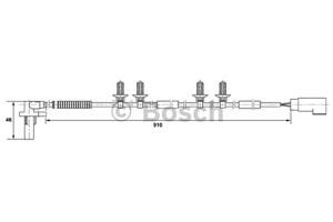 Sensor, hjulturtall, Bakaksel, Venstre
