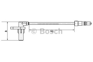ABS-givare, Sensor, hjulvarvtal, Bakaxel, Framaxel