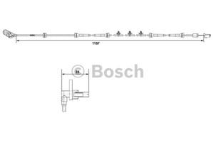 Sensor, hjulturtall, Foran, Venstre