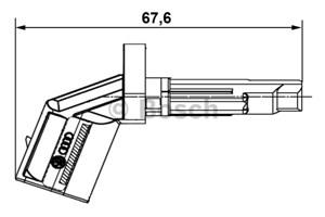ABS-givare, Sensor, hjulvarvtal, Bak, Bakaxel, Fram, Framaxel, Höger, Vänster