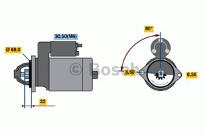 Reservdel:Opel Zafira Startmotor