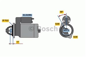 Reservdel:Mercedes Vaneo Startmotor