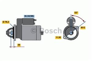 Reservdel:Bmw 318 Startmotor