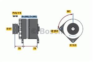 Reservdel:Bmw 320 Generator