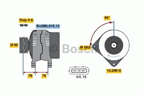 Reservdel:Bmw 528 Generator