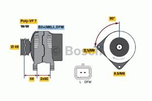 Reservdel:Opel Vivaro Generator