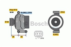 Reservdel:Opel Agila Generator
