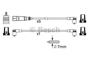 Reservdel:Audi 80 Tändkabelsats