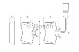 Reservdel:Ford Galaxy Bromsbeläggsats, Bak