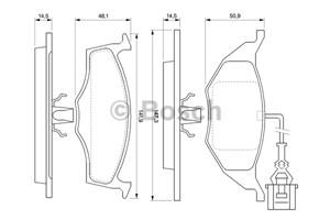 Reservdel:Audi A2 Bromsbeläggsats, Fram
