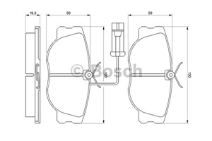 Reservdel:Fiat Tipo Bromsbeläggsats, Fram