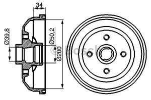 Reservdel:Opel Combo Bromstrumma, Bakaxel