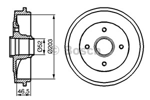 Brake Drum, Rear, Rear axle