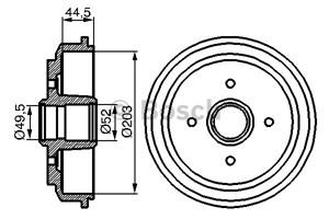 Reservdel:Ford Fusion Bromstrumma, Bak, Bakaxel