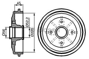 Reservdel:Citroen C3 Bromstrumma, Bakaxel