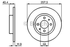 Reservdel:Fiat 500 Bromsskiva, Bakaxel, Framaxel