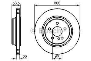 Reservdel:Mercedes S 500 Bromsskiva, Bakaxel