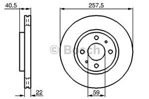 Reservdel:Fiat 500 Bromsskiva, Fram, Framaxel