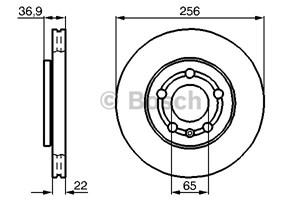 Reservdel:Audi A2 Bromsskiva, Fram, Framaxel