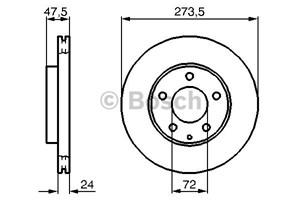 Reservdel:Mazda 626 Bromsskiva, Fram, Framaxel