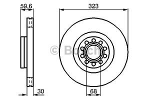 Reservdel:Audi A8 Bromsskiva, Fram, Framaxel