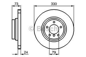 Brake Disc, Front axle