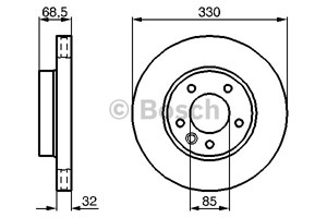 Brake Disc, Front axle, Front axle left, Left
