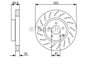 Reservdel:Mercedes C 300 Bromsskiva, Framaxel