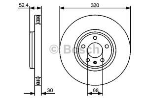 Reservdel:Audi A5 Bromsskiva, Framaxel