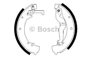 Reservdel:Mercedes Sprinter Bromsbackar, sats, Bak
