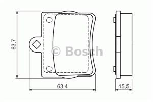 Reservdel:Mercedes Slk 200 Bromsbeläggsats, Bak