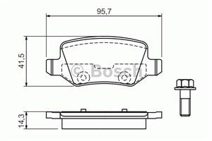 Reservdel:Mercedes A 190 Bromsbeläggsats, Bak