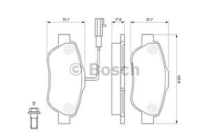 Reservdel:Fiat 500 Bromsbeläggsats, Fram