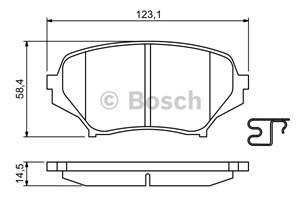 Reservdel:Mazda Mx-5 Bromsbeläggsats, Fram