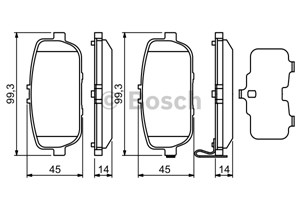 Reservdel:Mazda Mx-5 Bromsbeläggsats, Bak