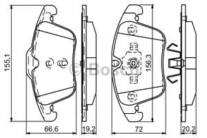 Reservdel:Ford Galaxy Bromsbeläggsats, Fram