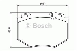 Reservdel:Mercedes S 500 Bromsbeläggsats, Fram